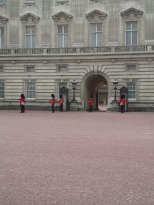 Buckingham Palace--changing of the guard beginning