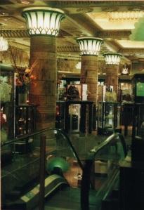 One inside shot of Harrod's