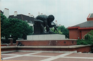 Rodin sculpture outside the British Library