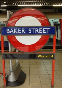 Baker Street tube iconic sign