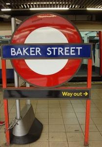 Baker Street tube iconic sign