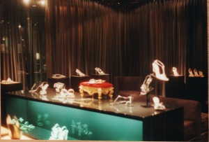 Harrods shoe display
