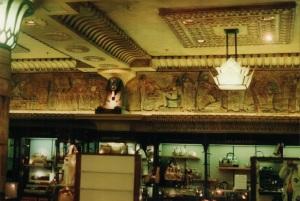 Harrolds decorationn along the ceiling