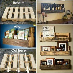 Make Your Own Pallet Bookshelf
