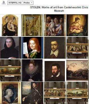 Stolen masterpieces from Castelvecchni Civic Museum-group paintings